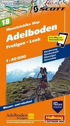ANDELBODEN - FRUTIGEN - LENK wodoodporna mapa rowerowa 1:50 000 Hallwag