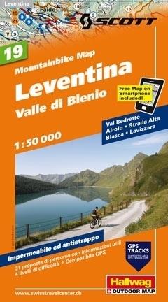 LEVENTINA - VALLE DI BLENIO wodoodporna mapa rowerowa 1:50 000 Hallwag