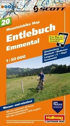 ENTLEBUCH - EMMENTAL wodoodporna mapa rowerowa 1:50 000 Hallwag