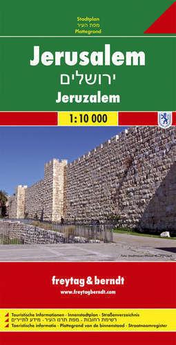 JEROZOLIMA plan miasta 1:10 000 FREYTAG&BERNDT 2019