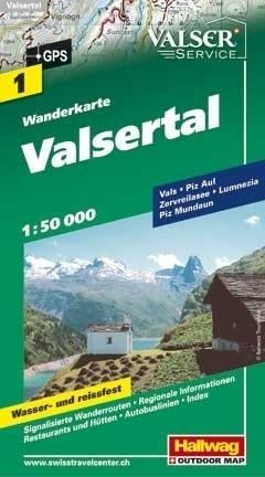 VALSERTAL wodoodporna mapa turystyczna 1:50 000 Hallwag