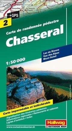 CHASSERAL wodoodporna mapa turystyczna 1:50 000 Hallwag