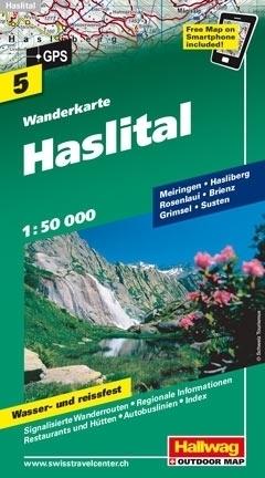 HASLITAL wodoodporna mapa turystyczna 1:50 000 Hallwag