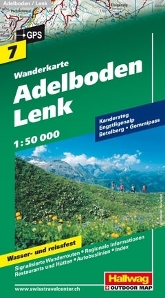 ADELBODEN LENK wodoodporna mapa turystyczna 1:50 000 Hallwag