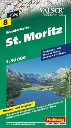ST MORITZ wodoodporna mapa turystyczna 1:50 000 Hallwag