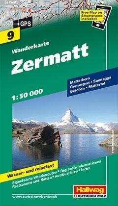 ZERMATT wodoodporna mapa turystyczna 1:50 000 Hallwag