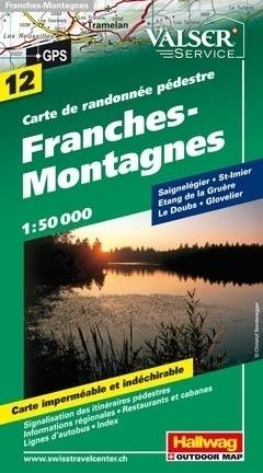 GORY FRANCHES wodoodporna mapa turystyczna 1:50 000 Hallwag