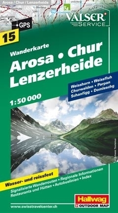 AROSA - CHUR LENZERHEIDE wodoodporna mapa turystyczna 1:50 000 Hallwag