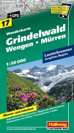 GRINDELWALD - WENGEN - MURREN wodoodporna mapa turystyczna 1:50 000 Hallwag