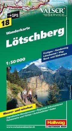 LOTSCHBERG wodoodporna mapa turystyczna 1:50 000 Hallwag
