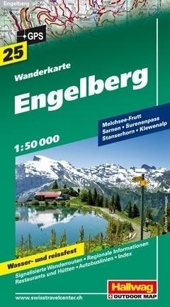 ENGELBERG wodoodporna mapa turystyczna 1:50 000 Hallwag
