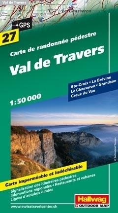 VAL DE TRAVERS wodoodporna mapa turystyczna 1:50 000 Hallwag