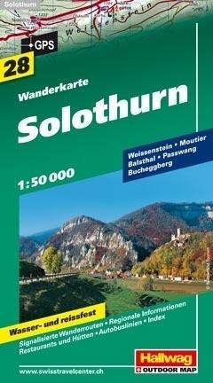 SOLURA SOLOTHURN wodoodporna mapa turystyczna 1:50 000 Hallwag