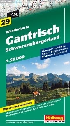 GANTRISCH - SCHWARZENBURGERLAND wodoodporna mapa turystyczna 1:50 000 Hallwag