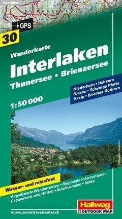 INTERLAKEN - THUNERSEE - BRIENZERSEE wodoodporna mapa turystyczna 1:50 000 Hallwag