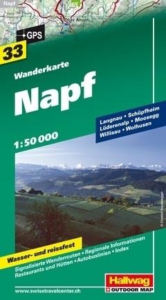NAPF wodoodporna mapa turystyczna 1:50 000 Hallwag