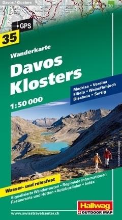 DAVOS - KLOSTERS wodoodporna mapa turystyczna 1:50 000 Hallwag