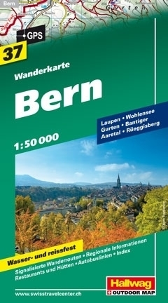 BERNO wodoodporna mapa turystyczna 1:50 000 Hallwag