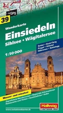 EINSIEDELN - SIHLSEE - WAGITALERSEE wodoodporna mapa turystyczna 1:50 000 Hallwag