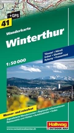 WINTERTHUR wodoodporna mapa turystyczna 1:50 000 Hallwag