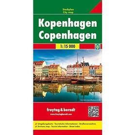 KOPENHAGA plan miasta 1:15 000 FREYTAG & BERNDT