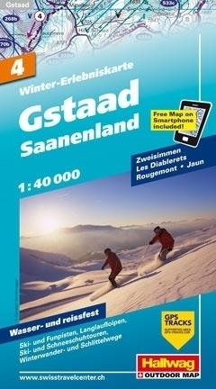 GSTAAD - SAANENLAND wodoodporna mapa zimowa 1:40 000 Hallwag