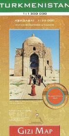 TURKMENISTAN mapa geograficzna 1:1 300 000 GIZIMAP