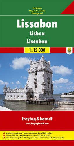 LIZBONA plan miasta 1:15 000 FREYTAG & BERNDT