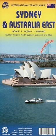 SYDNEY I AUSTRALIA WSCHODNIA wodoodporna mapa 1:10 000/1:3 500  000 ITMB