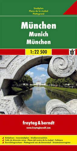 MONACHIUM plan miasta 1:22 500 FREYTAG & BERNDT