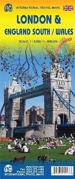 LONDYN - ANGLIA POŁUDNIOWA / WALIA London & England South / Wales wodoodporna mapa w skali 1:8 000/ 1:600 000  ITMB