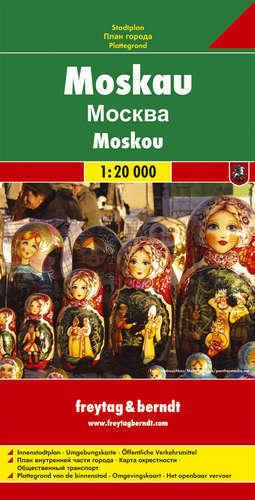 MOSKWA plan miasta 1:20 000 FREYTAG & BERNDT