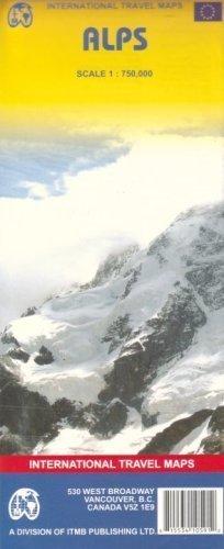 ALPY Alps mapa samochodowa 1:750 000 ITMB