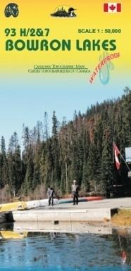KANADA: JEZIORA BOWRON wodoodporna mapa turystyczno-samochodowa 1:50 000 ITMB