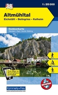 ALTMUHLTAL wodoodporna mapa turystyczna 1:35 000 KUMMERLY FREY