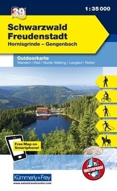 SCHWARZWALD · FREUDENSTADT wodoodporna mapa turystyczna 1:35 000 KUMMERLY FREY