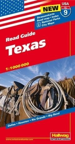 USA TEKSAS ROAD GUIDE 09 USA Texas mapa samochodowa 1:1 000 000  HALLWAG