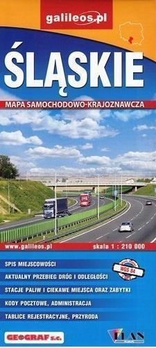ŚLĄSKIE mapa samochodowo krajoznawcza 1:210 000 STUDIO PLAN