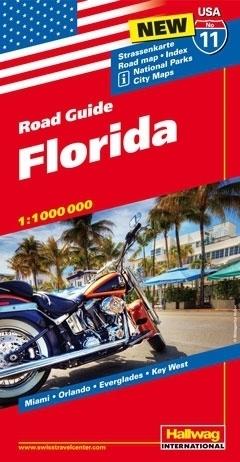 USA FLORYDA ROAD GUIDE 11 USA Florida mapa samochodowa 1:1 000 000  HALLWAG
