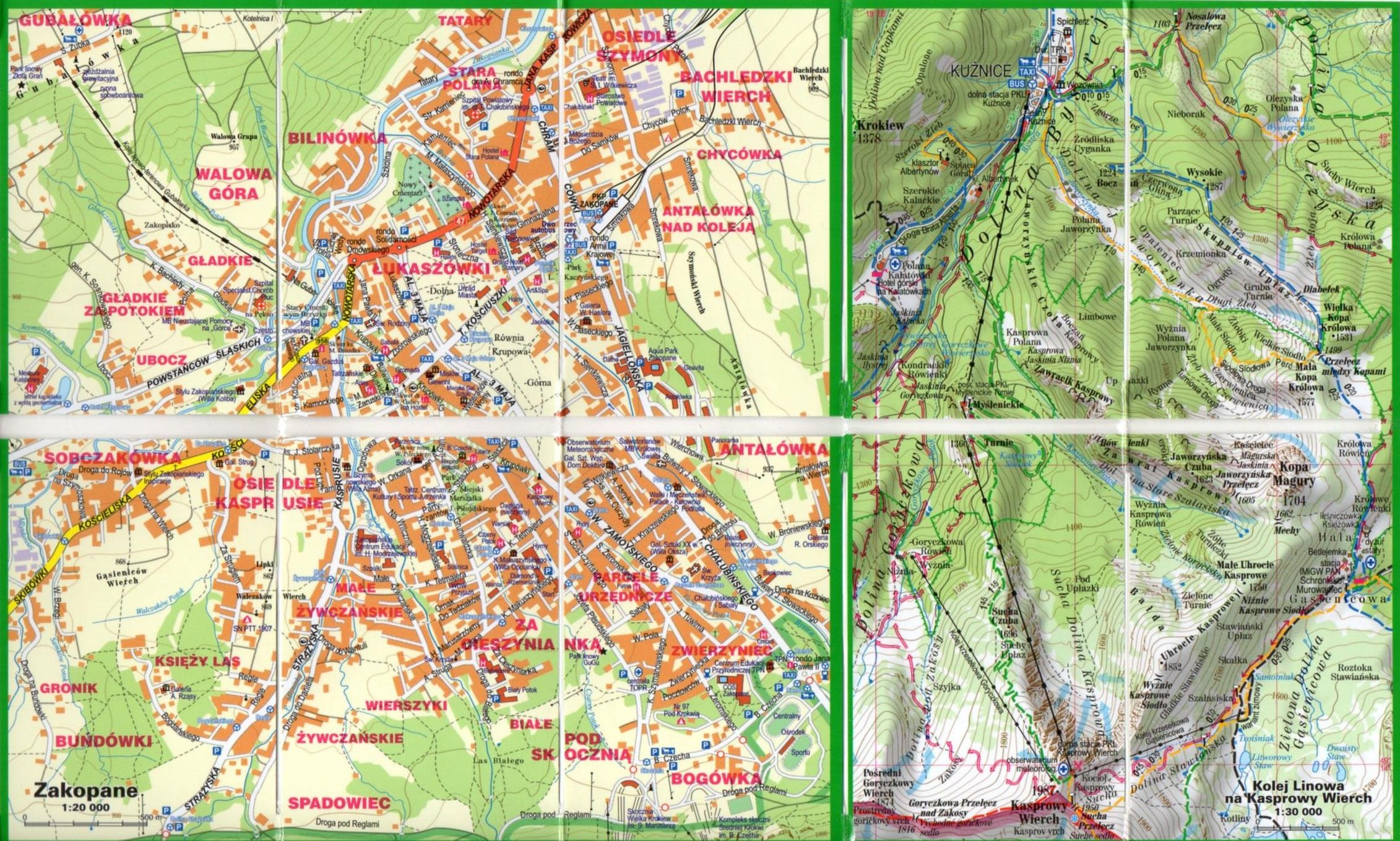 Tatry Laminowana Mapa Turystyczna 1 80 000 Mapa Miniaturowa Expressmap