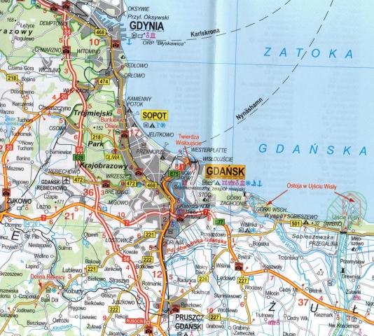 Wybrzeze Baltyku Pomorze Gdanskie Mapa Turystyczna 1 300 000 Daunpol