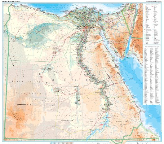 Egipt Mapa Geograficzna 1 1 300 000 Gizimap Egypt Geografical
