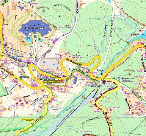 Powiat Walbrzyski Walbrzych Mapa Turystyczna 1 50 000 Plan