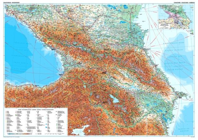 Kaukaz Mapa Geograficzna 1 1 000 000 Gizimap