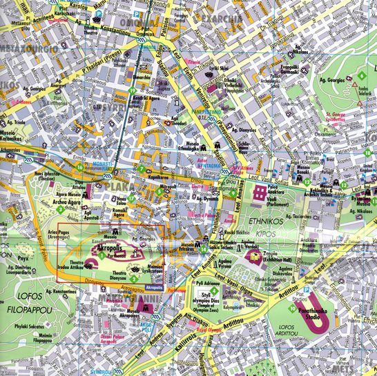 Ateny Plan Miasta Laminowany 1 11 500 Kunth