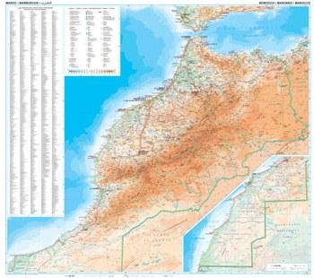 Maroko Mapa Geograficzna 1 1 250 000 Marocco Geografical Gizimap