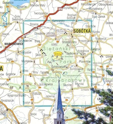 Masyw Slezy Sobotka Slezanski Park Krajobrazowy Mapa Turystyczna 1