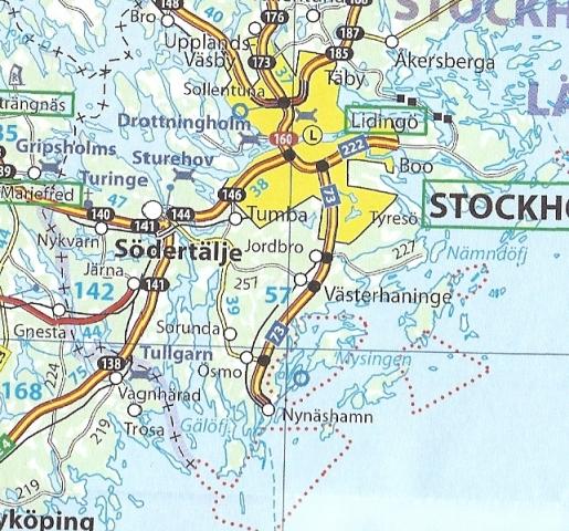 Szwecja Mapa Samochodowa 1 1 200 000 Michelin