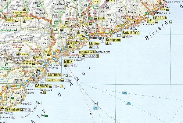 Wlochy Polnocne Riwiera Francuska Mapa 1 800 000 Insight Travel Map