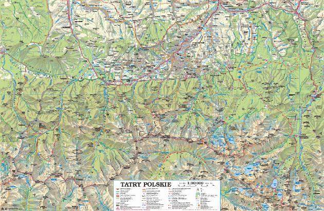Tatry Polskie Kompaktowe Mapa Turystyczna 1 30 000 Sygnatura